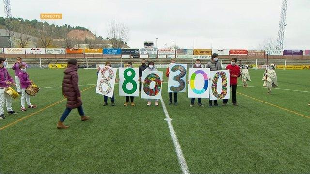 La Marató de Tv3 i Catalunya Ràdio recapta 880.300 euros fins a les 13.30 hores.
