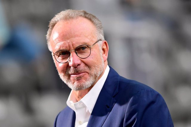 FILED - 04 July 2020, Berlin: Bayern Munich chairman Karl-Heinz Rummenigge attends the German DFB-Pokal final soccer match between Bayer Leverkusen and FC Bayern Munich at the Olympic Stadium. Rummenigge has hailed the strength of the Bundesliga after fou