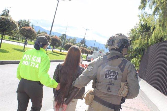 Policía en Bogotá, Colombia