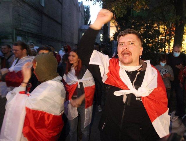 Manifestaciones contra Alexander Lukashenko en Minsk, Bielorrusia