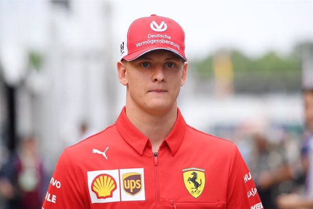 FILED - 27 July 2019, Baden-Wuerttemberg, Hockenheim: Mick Schumacher, German Formula 2 driver and son of Formula 1 World Champion Michael Schumacher, arrives at the paddock of the Formula one Grand Prix of Germany. Mick will make his Formula One debut ne