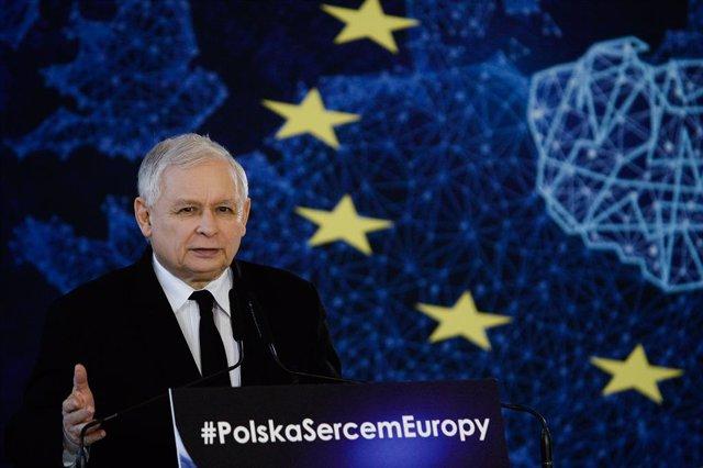 El líder del partido Ley y Justicia, Jaroslaw Kaczynski