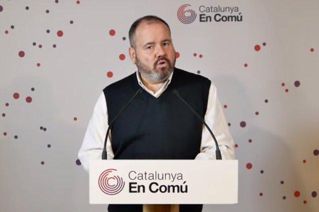 El diputat al Congrés i dirigent d'En Comú Podem, Joan Mena