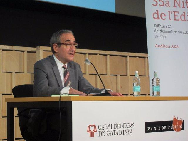 El president del Gremi d'Editors de Catalunya, Patrici Tixis