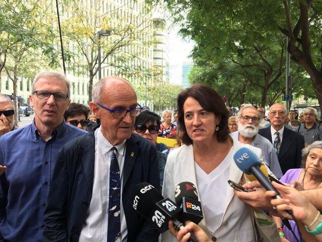 El vicepresident de l'ANC, Josep Cruanyes, i la presidenta de l'entitat, Elisenda Paluzie