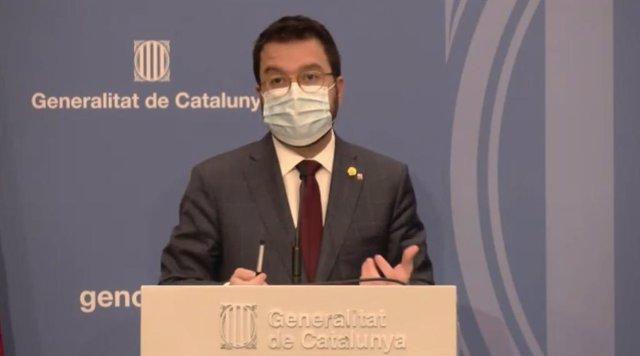 El vicepresident de la Generalitat, Pere Aragonès.