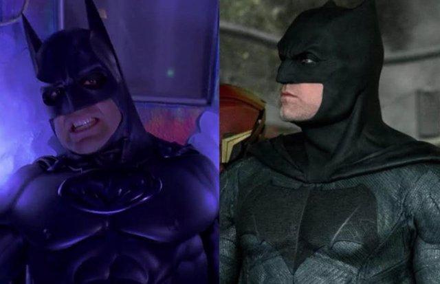 George Clooney y Ben Affleck como Batman