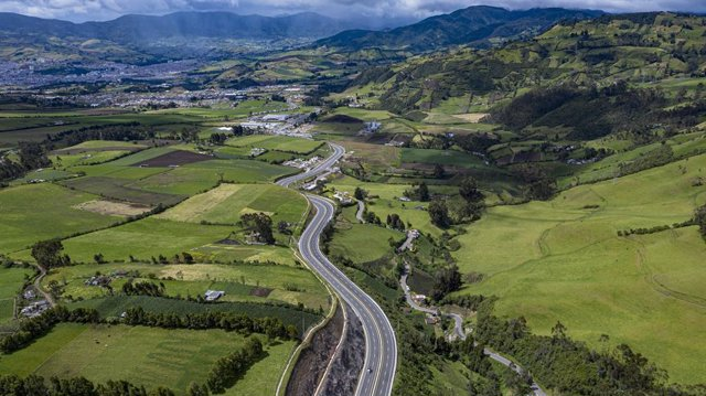 Una de las autopistas de Sacyr en Colombia