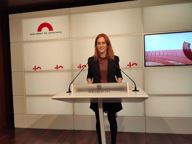 La presidenta dels comuns al Parlament, Jéssica Albiach.