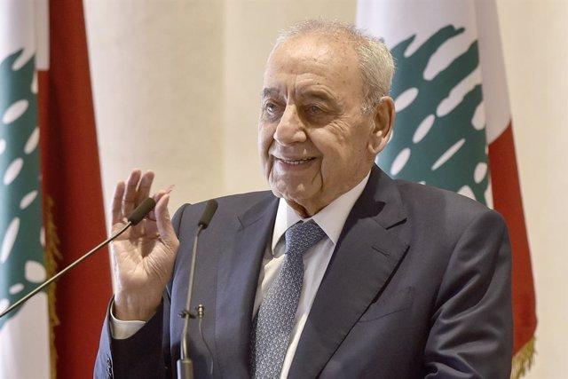 El presidente del Parlamento de Líbano, Nabih Berri