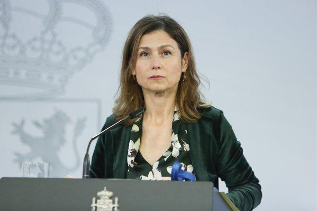 La directora de la Agencia Española de Medicamentos y Productos Sanitarios, María Jesús Lamas, durante una rueda de prensa en Moncloa, en Madrid (España), a 21 de diciembre de 2020.