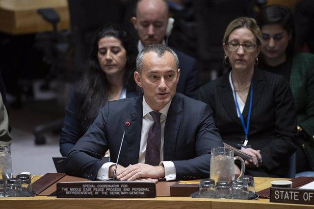 El coordinador especial de Naciones Unidas para el Proceso de Paz en Oriente Próximo, Nickolay Mladenov