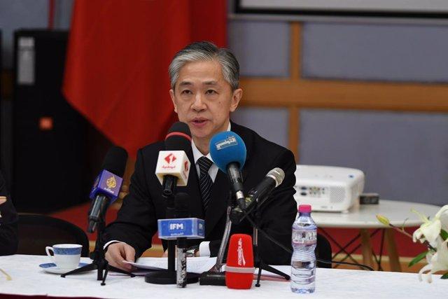 El portavoz del Ministerio de Asuntos  Exteriores de China, Wang Wenbin