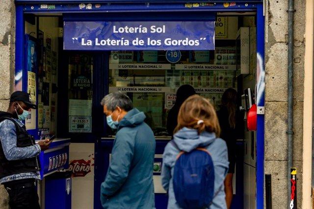 Administració de loteria Sol. Madrid (Espanya), 4 de novembre del 2020.
