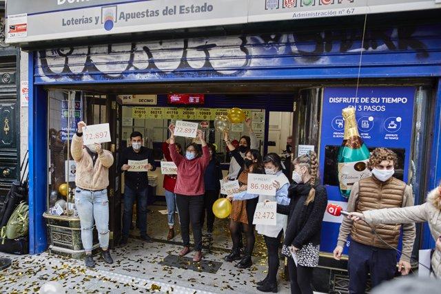 La popular administración de 'Doña Manolita' en el centro de la capital