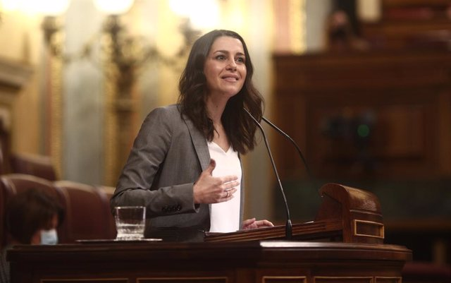 La presidenta de Cs, Inés Arrimadas, al Congrés. Madrid (Espanya), 17 de desembre del 2020.