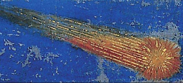 Detalle de la estrella pintada por Giotto en la Adoración de los Reyes Magos