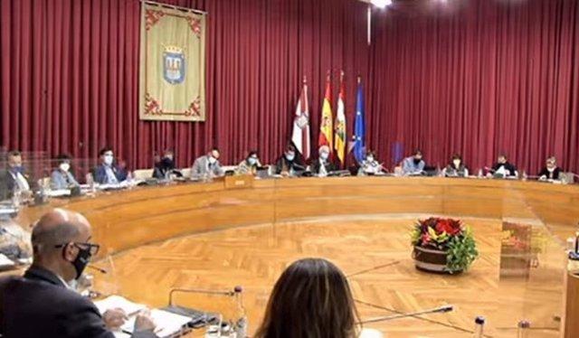 Pleno del Ayuntamiento de Logroño correspondiente a diciembre de 2020.