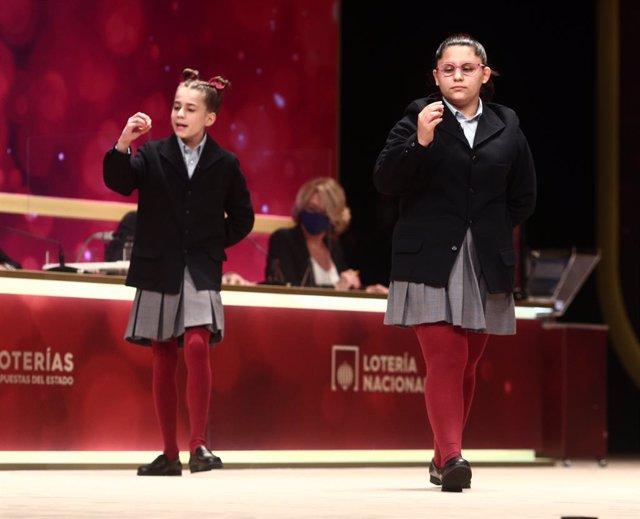 Sorteig Extraordinari de Nadal 2020, al Teatro Real. Madrid (Espanya), 22 de desembre del 2020.