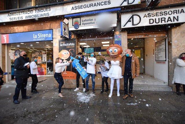 Celebració de la grossa de Nadal a l'administració 'La Pastoreta' de Reus (Tarragona)