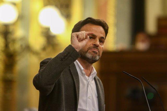 El president del Grup Unides Podem, Jaume Asens, al Congrés dels Diputats. Madrid (Espanya), 15 de desembre del 2020.