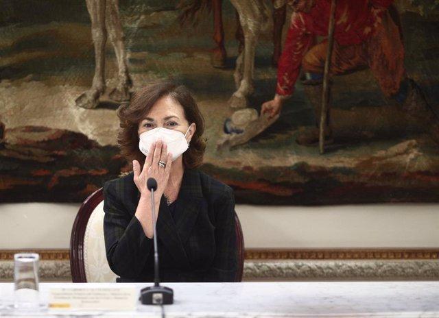 La vicepresidenta primera i ministra de Presidència, Carmen Calvo.