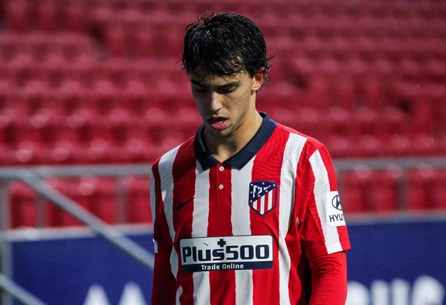 Joao Felix of Atletico de Madrid during La Liga football match played between Atletico de Madrid and Elche CF at Wanda Metropolitano stadium on December 19, 2020 in Madrid, Spain.