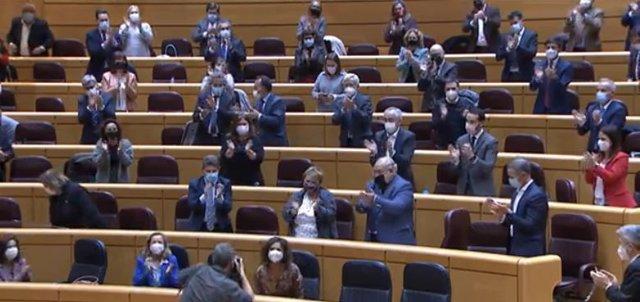 María Jesús Montero tras la aprobación de los Presupuestos de 2021.