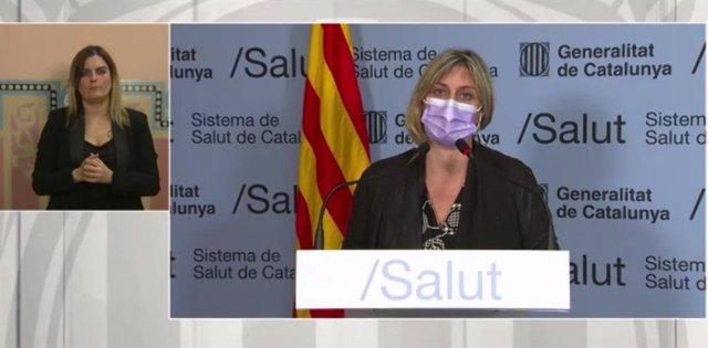 La consellera de Salut, Alba Vergés, explica les restriccions en la Cerdanya i el Ripollès pel Covid-19.
