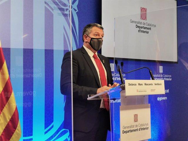 El conseller Miquel Sàmper, en la roda de premsa.
