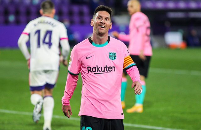 Lionel Messi of FC Barcelona during La Liga football match played between Real Valladolid and FC Barcelona at Jose Zorrilla stadium on December 22, 2020 in Valladolid, Spain.