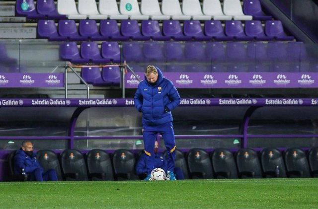 Ronald Koeman, head coach of FC Barcelona during La Liga football match played between Real Valladolid and FC Barcelona at Jose Zorrilla stadium on December 22, 2020 in Valladolid, Spain.