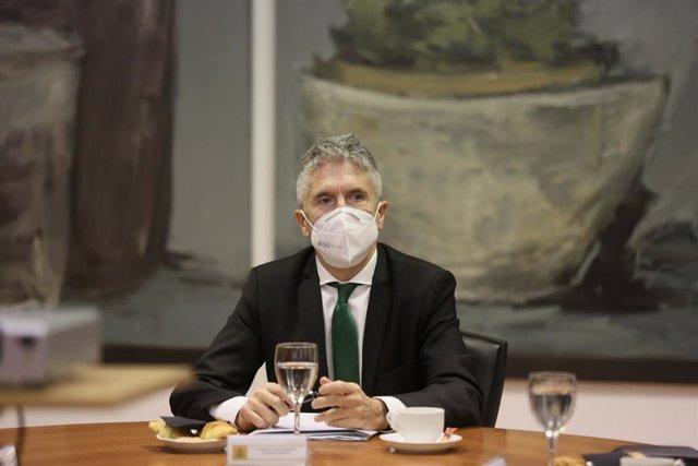 El ministro del Interior, Fernando Grande-Marlaska, durante un acto reciente