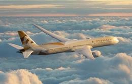 Avión de Etihad Airways