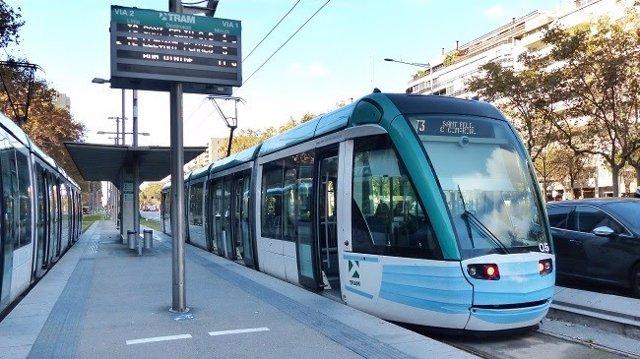 El tramvia de Barcelona.