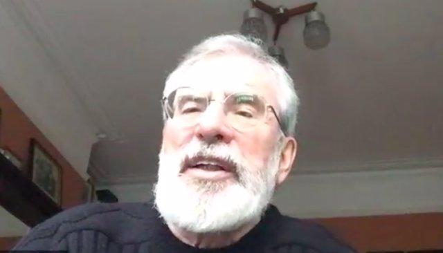 L'expresident del Sinn Féin Gerry Adams