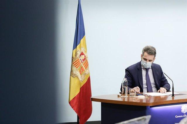 El ministre Portaveu i de Finances d'Andorra, Eric Jover