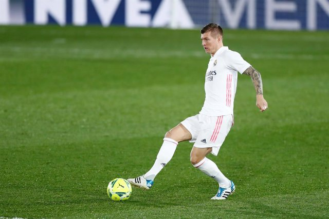 Toni Kroos of Real Madrid in action during the spanish league, La Liga, football match played between Real Madrid and Athletic Club de Bilbao at Alfredo di Stefano stadium on december 15, 2020, in Valdebebas, Madrid, Spain