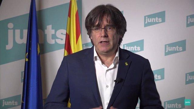 El expresidente de la Generalitat y líder de JxCat, Carles Puigdemont.