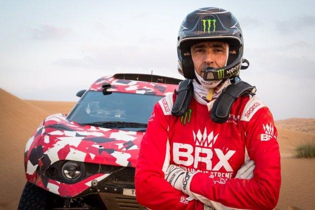 El piloto español de rallys Nani Roma (BRX), en su preparación para el Rally Dakar 2021