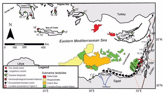 Reconstrucción geológica en el Mediterráneo Oriental para el estudio