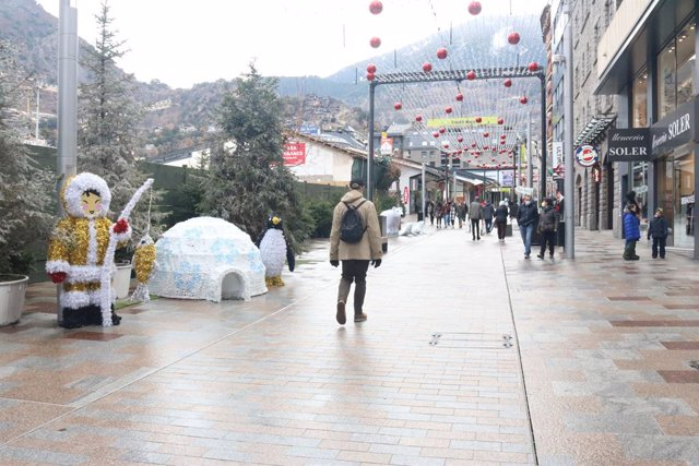 La avinguda Carlemany d'Andorra la Vella (Andorra)