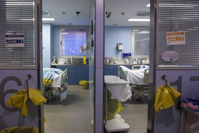 La Unidad de Cuidados Intensivos (UCI) para enfermos de coronavirus del Hospital Universitario Dr. Josep Trueta de Girona