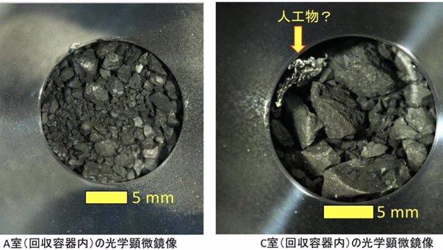 Muestras del asteroide Ryugu traidas por la misión Hayabusa 2