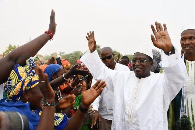 El líder de la opositora Unión por la República y la Democracia (URD), Soumaila Cissé, durante un acto en Malí