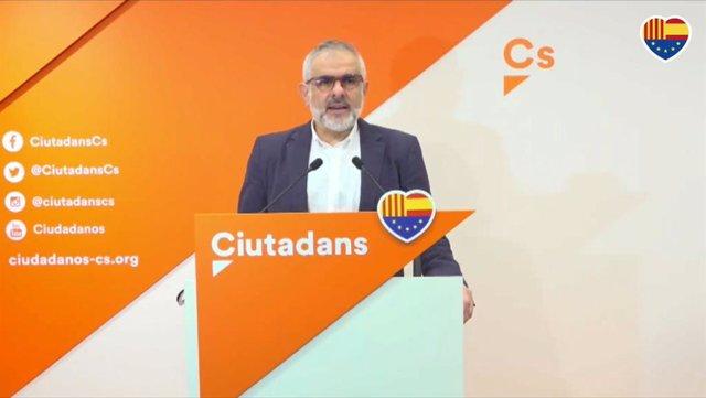 Carlos Carrizosa (Cs) en la roda de premsa