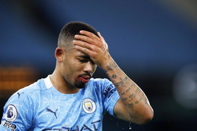 Gabriel Jesus of Manchester City injured during the English championship Premier League football match between Manchester City and West Bromwich Albion on December 15, 2020 at Etihad Stadium in Manchester, England - Photo Lynne Cameron / Colorsport / DPPI