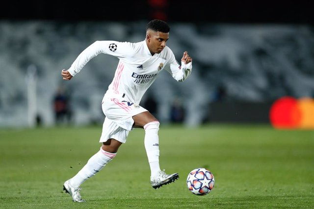 Rodrygo Silva de Goes of Real Madrid in action during the UEFA Champions League football match played between Real Madrid and Borussia Monchengladbach at Ciudad Deportiva Real Madrid on december 09, 2020, in Valdebebas, Madrid, Spain