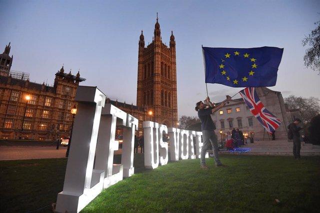 27 March 2019. Londres Anti-Brexit  Photo: Victoria Jones/PA Wire/dpa