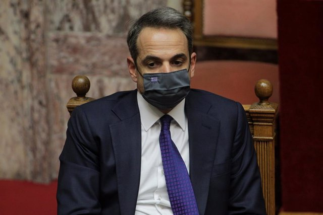 15 December 2020, Greece, Athens: Greek Prime Minister Kyriakos Mitsotakis attends a session at the Greek parliament to debate the country's draft budget for 2021. Photo: Aristidis Vafeiadakis/ZUMA Wire/dpa